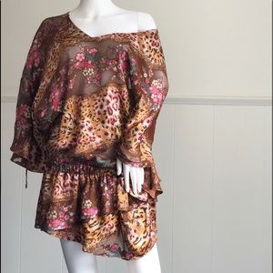 Dresses & Skirts - Mixed Animal  🌷 Print FloralTúnica Sh Dress• 12